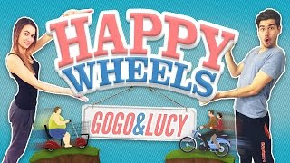 HAPPY WHEELS │NEPÚŠTAJTE ZA TO ŽENU!│GOGO & LUCY