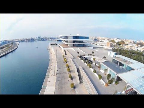 Valencia desde el aire - Zona del puerto con Dji Phantom 2 + Zenmuse + SJ4000