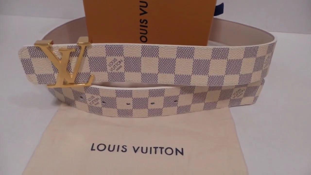 2f8ef3fc992 Louis Vuitton Mens Belt New Unboxing Review Authentic Damier Azur ...