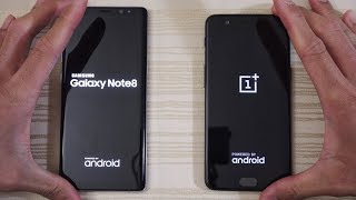Galaxy Note 8 vs OnePlus 5 - Speed Test! (4K)