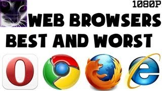 Best and Worst Web Browsers + Extensions / Add-Ons