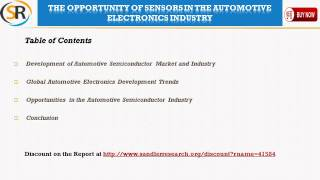 The Opportunity of Sensors in the Automotive Electronics Industry