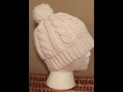 Beginner Cable Hat Left handed Crocheters