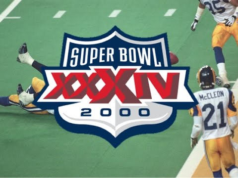 Super Bowl XXXIV: Kevin Dyson tackled one yard short from touchdown- Rams Win Super Bowl