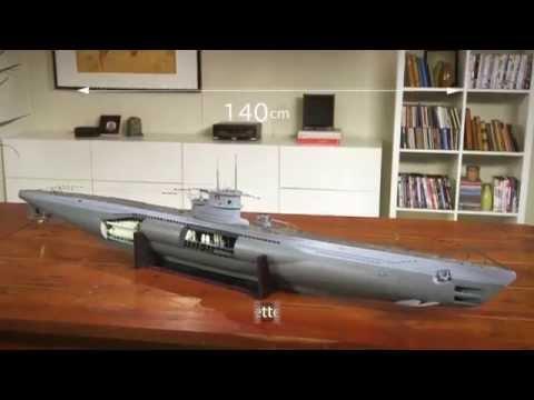 U boat u96 d couvrez et construisez un sous marin de for Maquette stand