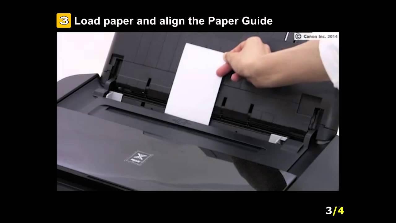 PIXMA iP8720/iX6820: Setting the paper