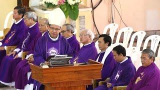 Đức Cha Giuse Đỗ Mạnh Hùng giảng trong Thánh Lễ viếng Đức Cha Giuse Vũ Duy Thống