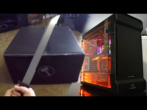 UNBOXING MY NEW GAMING PC! (First Person Unboxing)