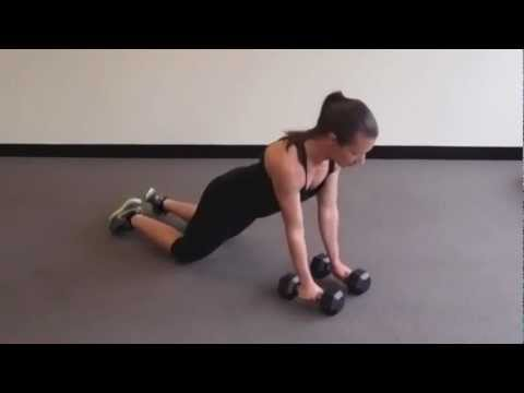 Dumbbell Renegade Row On Knees
