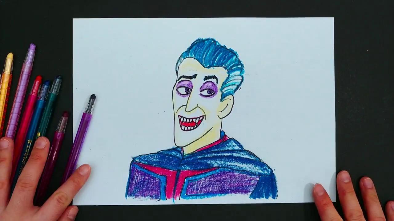 How To Draw Dracula In Monster Family 몬스터 페밀리 그리기