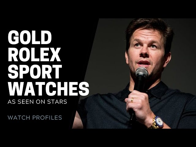 All Gold Rolex Sport Watches on Celebrities: Rolex GMT Master, Submariner, Yachtmaster