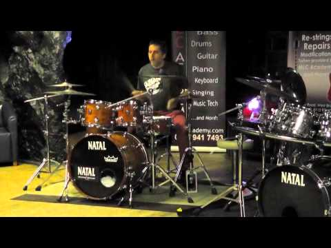 Natal Drum Clinic DRUM BATTLE - Paul Hose, Rob Hirons & Glenn Hallam @The Brit Club, Nottingham 2013