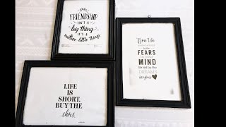 Cute Pinterest Posters// Diy Bedroom Wall Decor Ideas