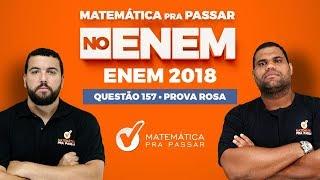 🚨CORREÇÃO ENEM 2018: ✔️QUESTÃO 157 😃GEOMETRIA PLANA ÁREAS😃 QUESTÃO DA ECOFONT.