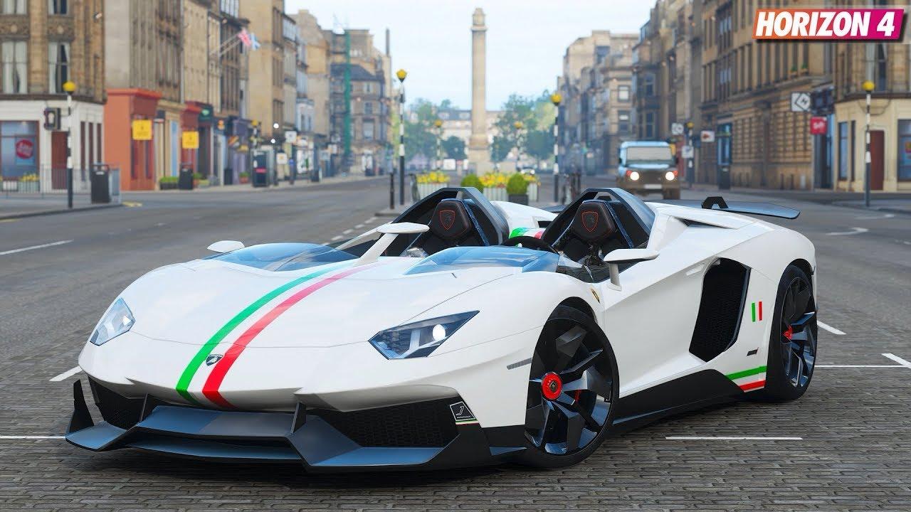 Forza Horizon 4 Lamborghini Aventador J Gameplay Youtube
