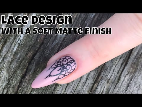 Lace Design with a Soft Matte Finish
