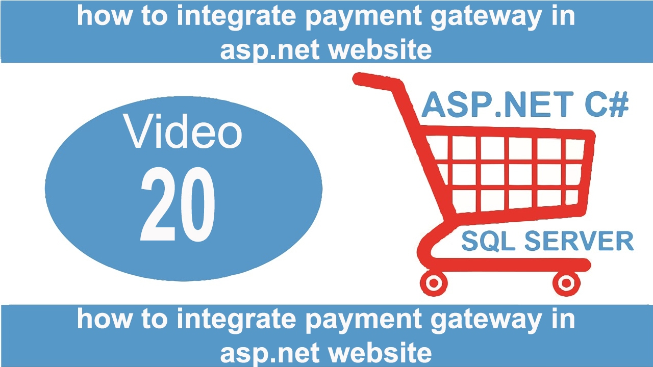 how to integrate payment gateway in asp net website