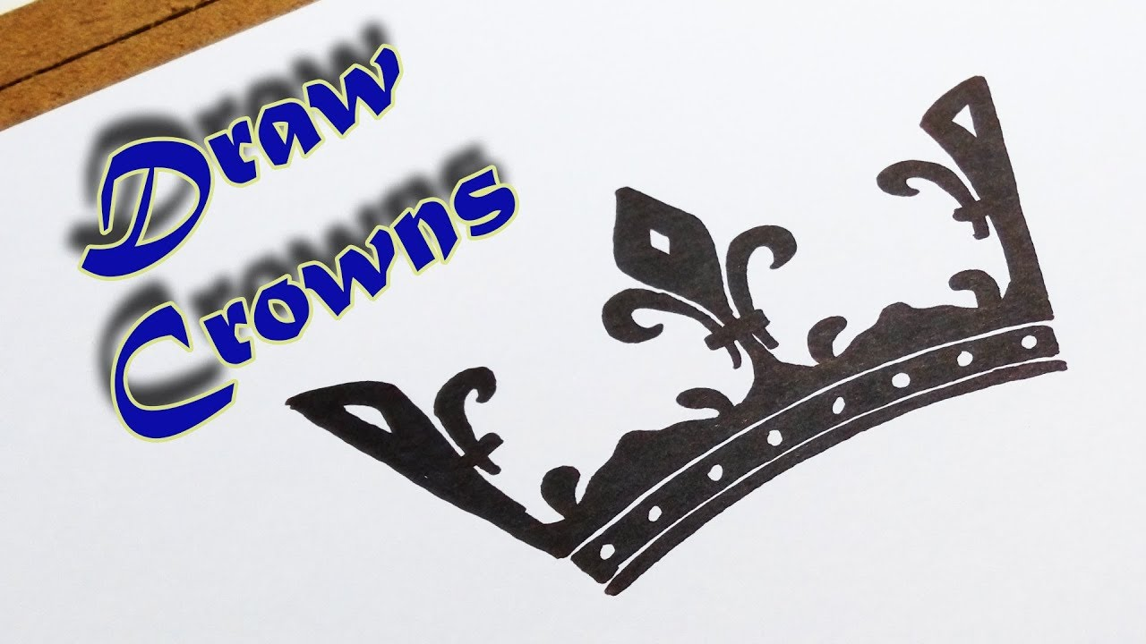 How To Draw Crowns For King And Queen Youtube