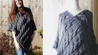 Hopefully now you've spent some time practicing the basic stitches, so I thought I would share with you my first project for this channel, and that's for this Cable Poncho. For this pattern...