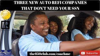 Cash Back Auto Loan Refinancing Without Your SSN - Lease Payoff,myFICO,Process,Capital One