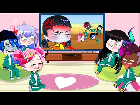 Ppg and Rrb Reacting To Squid Game | Gacha Club | Ppg x Rrb Gacha Life