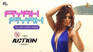 Action Telugu | Fiyah Fiyah Lyric Video | Vishal, Akanksha Puri | Hiphop Tamizha | Sundar.C