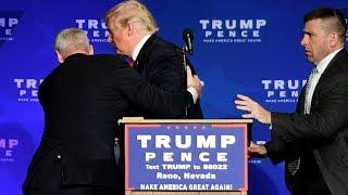 شاهد: إجلاء ترامب من تجمع انتخابي بنيفادا.. والأمن: لا أسلحة