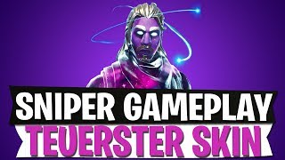 NEW SNIPER GAMEPLAY | GALAXY TEUERSTER SKIN | Fortnite Battle Royale
