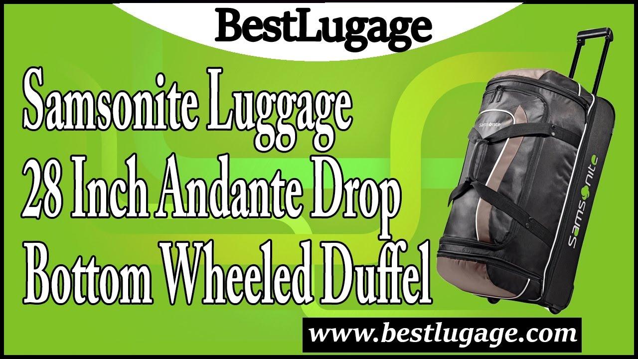 d254ef01fe76 Samsonite Luggage 28 Inch Andante Drop Bottom Wheeled Duffel Review ...