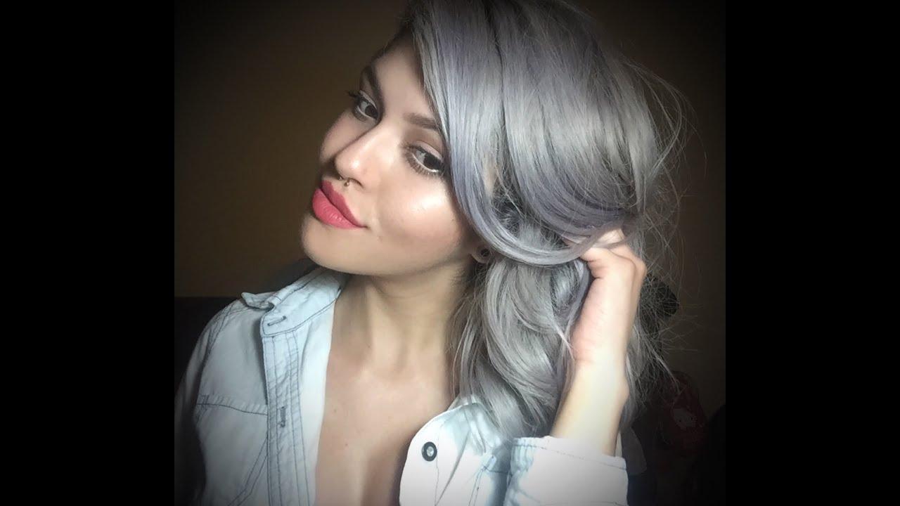 Como obtener cabello gris youtube