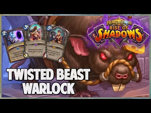Twisted Beast Warlock | Surviving Standard 152 | Hearthstone | Rise of Shadows