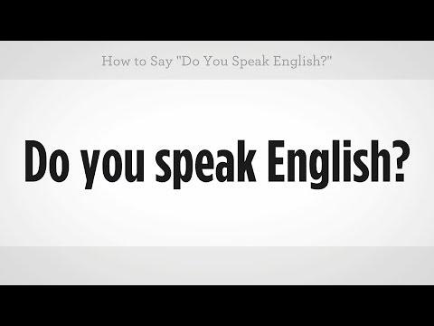 "How to Say ""Do You Speak English""   Mandarin Chinese"