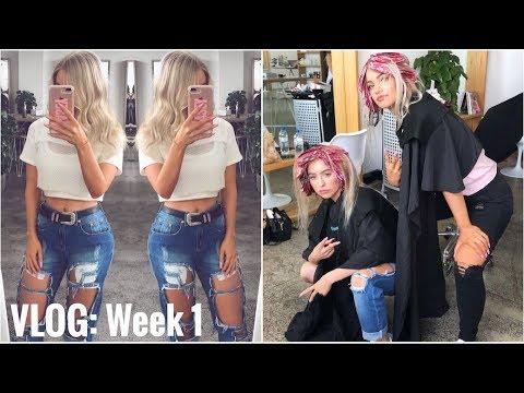 Vlog week 1 - LEAVING AUSTRALIA & DYING MY HAIR BLONDE