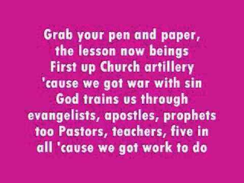 SUNDAY SCHOOL ROCK with lyrics