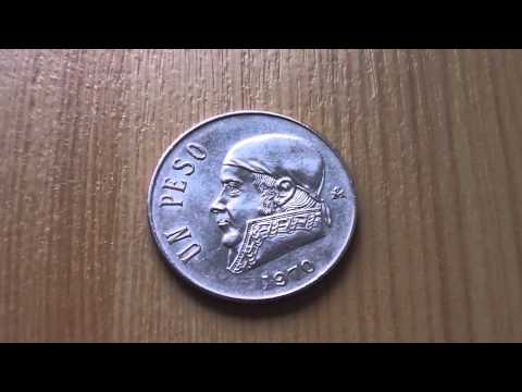 Mexico - Un Peso coin from 1970 in HD