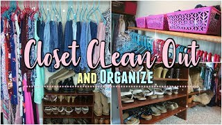 Clean Out and ORGANIZING MY CLOSET/Closet Organization Ideas 2018