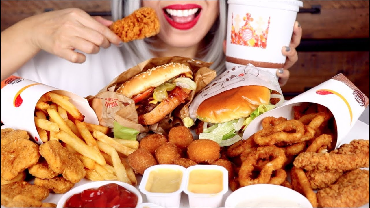Asmr Burger King Feast Whopper Chicken Tenders Onion Rings No Talking