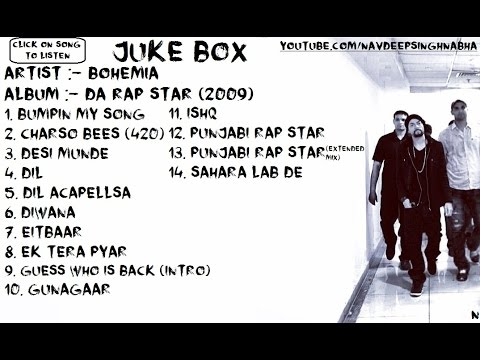 "BOHEMIA - 3rd Album of ""Bohemia"" 'Da Rap Star (2009)' Full Audio JukeBox"