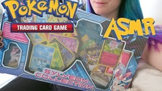 Pokemon Tcg Asmr- Opening Sylveon Collection Box, Whispering And Package Crinkling