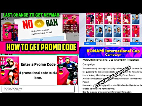 😱 OMG   PROMO CODES AND 600 COINS   UPDATED BY KONAMI   COMPLETE EMAIL AND DETAILS   FREE LEGENDS