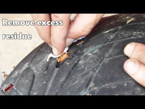 How to repair a punctured tyre ✔EASY