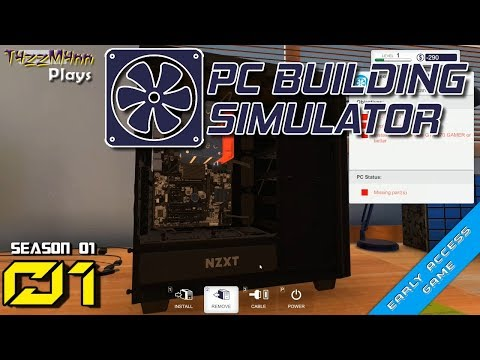 S01E01 - First Day on the Job - PC Building Simulator - Let's Play
