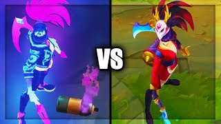 Neon KDA Akali vs Blood Moon Akali Best Akali Skins Comparison (League of Legends)