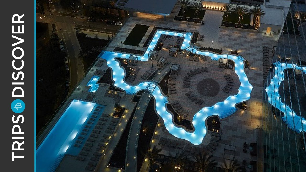 Texas Shaped Lazy River At Marriott Marquis Houston Youtube