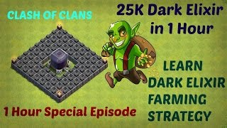 Clash of Clans- 25K Dark Elixir in 1 Hour- TH9 Special Farming Strategy