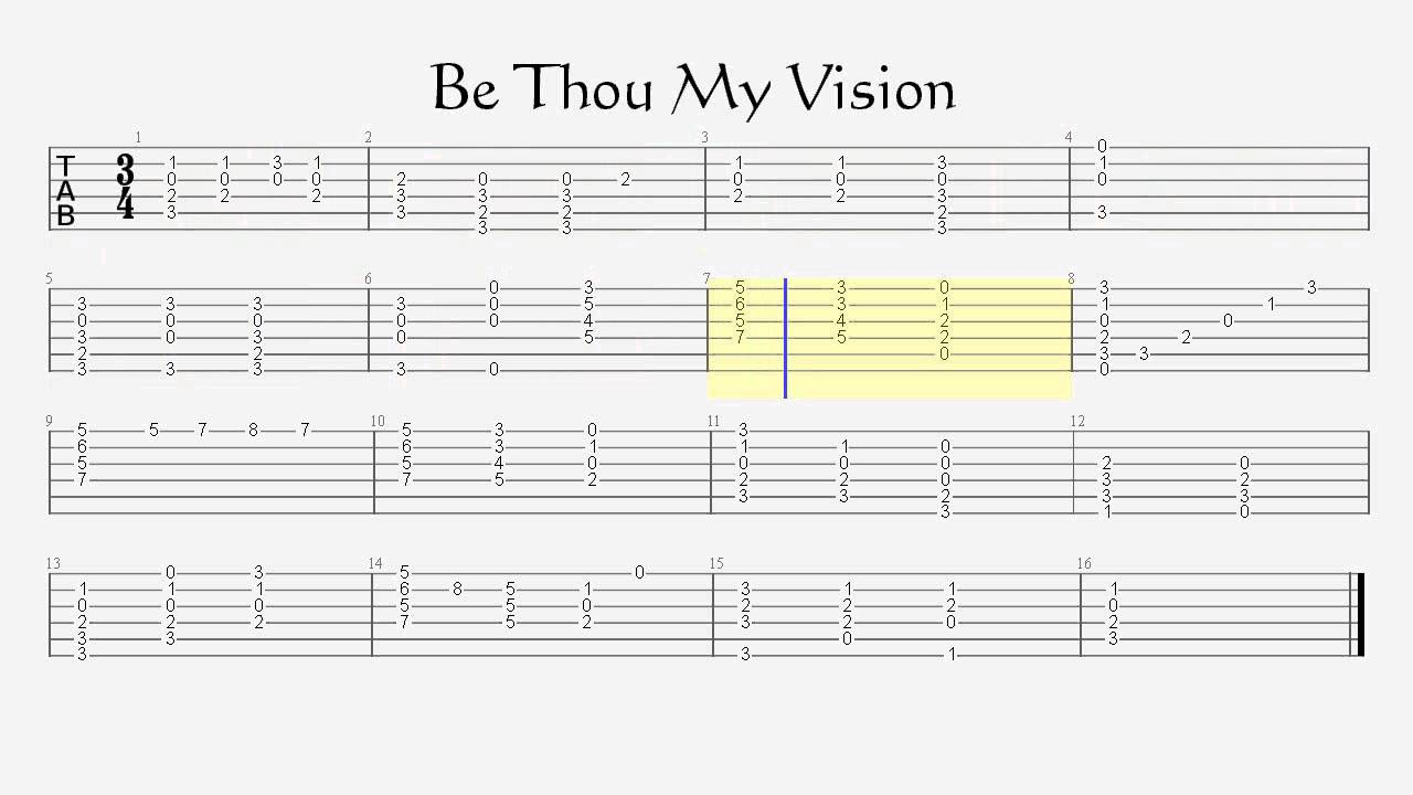 Be Thou My Vision Guitar Hymn Lesson With Tablature Youtube
