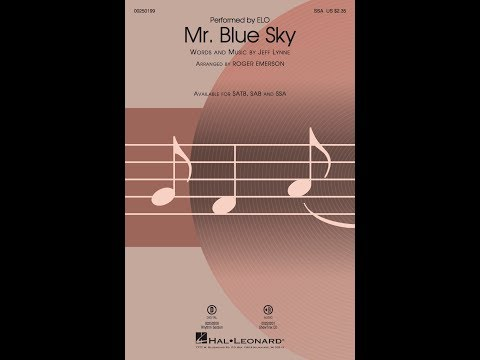 Mr  Blue Sky (SSA) - Arranged by Roger Emerson