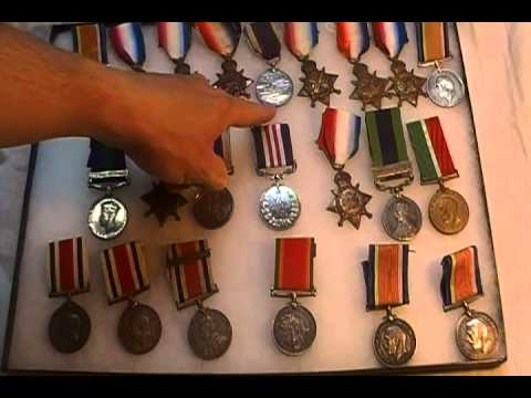 WW1 British military medal collection Army Navy Long Service Somme Vimy Galantry