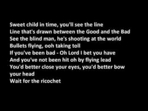 Deep Purple  Child In Time lyrics on Screen