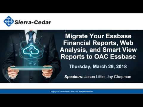 Migrate Your Essbase Financial Reports, Web Analysis, and Smart View Reports to OAC Essbase